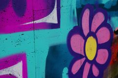 Graffitidetail Royalty-vrije Stock Afbeelding
