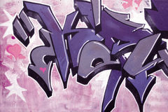 Graffitidetail Stockbild