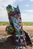 Graffitied Cadillacs Imagem de Stock