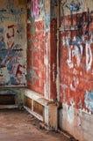 Graffitied Crumbling Bunker Stock Image