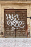 Graffitied old Gate Royalty Free Stock Image