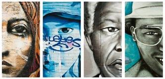 Graffitigezichten royalty-vrije stock afbeeldingen