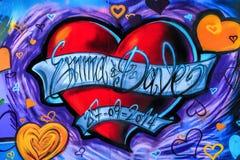 Graffitiherz Lizenzfreies Stockfoto