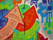 Graffitihintergrund 05 Lizenzfreie Stockfotografie