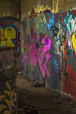 Graffitihol Stock Afbeelding