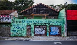 Graffitihuis São Paulo Stock Foto's
