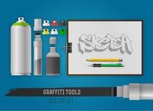 Graffitihulpmiddelen Stock Afbeelding