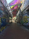 Graffitikunst n Boston stock foto