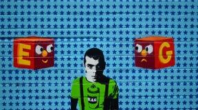 Graffitikunst op muur Royalty-vrije Stock Afbeeldingen