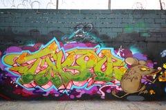 Graffitikunst in Ost-Williamsburg in Brooklyn Lizenzfreies Stockfoto