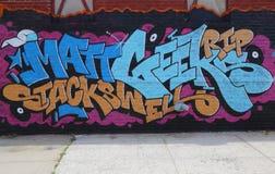 Graffitikunst in Ost-Williamsburg in Brooklyn Lizenzfreie Stockfotos