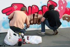 Graffitikunstenaars Royalty-vrije Stock Afbeeldingen