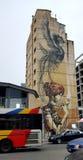 Graffitikunstgebäude Lizenzfreie Stockfotos