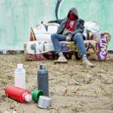 Graffitilack Lizenzfreie Stockfotografie