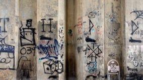 Graffitimuur stock fotografie