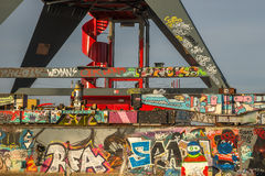 Graffitimuur Stock Fotografie