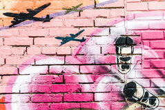 Graffitimuur royalty-vrije stock afbeeldingen