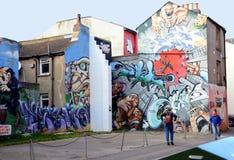 Graffitimuur in Brighton royalty-vrije stock afbeelding