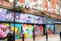 Graffitimuur in de Stadscentrum Noord-Ierland van Belfast Stock Afbeelding