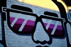 Graffitimuur, Houston Van de binnenstad, TX 4 Stock Foto