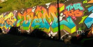 Graffitimuur in Napels royalty-vrije stock afbeelding