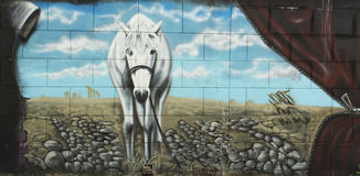 Graffitipferd Lizenzfreies Stockfoto