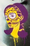 Graffitiporträt lizenzfreies stockbild