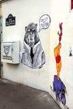 Graffitis in Paris Royalty Free Stock Photography
