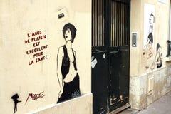Graffitis in Paris Stock Photos
