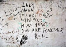 Graffitis pour à se rappeler le 31 août 1997 Image libre de droits
