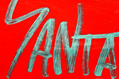 Graffitis on a red background Royalty Free Stock Photos