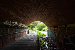 Graffitis tunnel Stock Photography