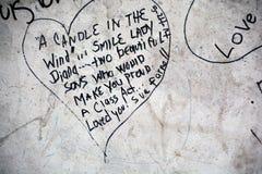 Graffitis voor om zich op 31 Augustus 1997 te herinneren Stock Foto's