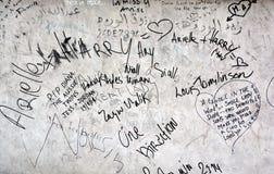 Graffitis voor om zich op 31 Augustus 1997 te herinneren Royalty-vrije Stock Afbeelding