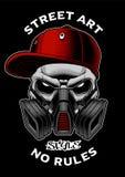 Graffitischedel met gasmasker vector illustratie