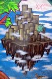 Graffitistadtzentrum von Johannes lizenzfreies stockfoto