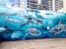 Graffitisteeg in Toronto royalty-vrije stock foto
