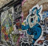 Graffitistraße in Melbourne, Australien Lizenzfreies Stockbild