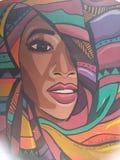 Graffitistraßenkunst auf Wand der Fähigkeit der Kunsterziehung Kairo stockfotografie