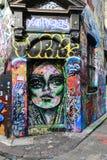 Graffitistraat in Melbourne, Australië Royalty-vrije Stock Fotografie