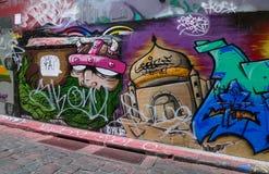 Graffitistraat in Melbourne, Australië Stock Afbeeldingen