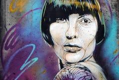 Graffitistuk in Oslo Stock Afbeeldingen