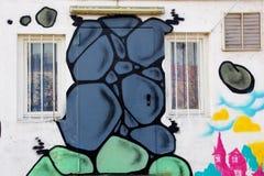 Graffititür Lizenzfreie Stockfotos
