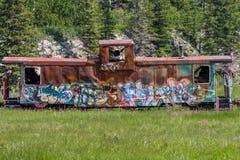 Graffititrein stock afbeelding