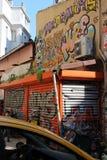 Graffitiwand lizenzfreie abbildung