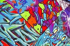 Graffitiwand Stockfoto