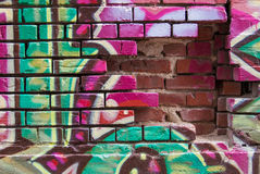 Graffitiwand Stockfotografie