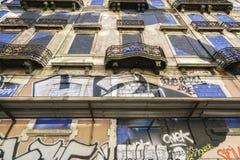 Graffitiwand Lizenzfreie Stockfotos