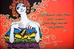 Graffitiwand Stockbild