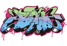 Graffito - boy. Graffito text design - boy. Color vector illustration Royalty Free Stock Image